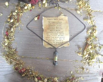 Elemental Amulet - EARTH - witchcraft jewelry, wiccan elements wicca pagan occult magick witchy gothic spells magickgift