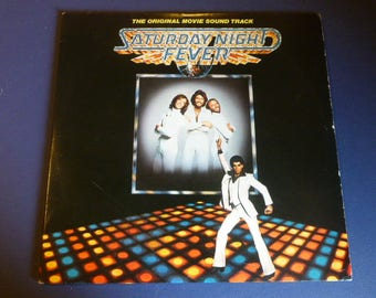 Saturday Night Fever The Original Movie Sound Track Vinyl Record LP RS-2-4001 Double Album RSO Records 1977