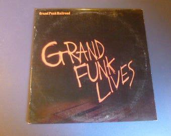 On Sale! Grand Funk Railroad Grand Funk Lives Vinyl Record LP FMH 3625 Full Moon Records 1981