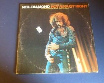 Neil Diamond Hot August Night Vinyl Record LP MCA 2-8000 Double Album MCA Records 1972