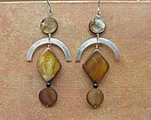 Sterling silver earrings with mother-of-pearl