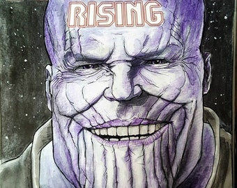 Thanos- sketch cover comic book