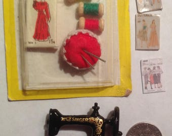 Sewing room accessories  for dollhouse