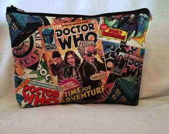 FAST SHIPPING//Doctor Who pouch//Large zipper Cosmetic/accessory Pouch