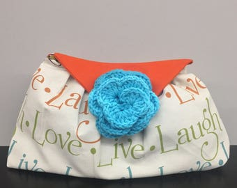 Live Laugh Love Cosmetic Bag_Pink