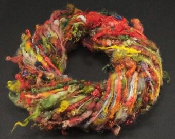 Handspun art yarn Wensleydale  locks and more , 5.2 oz, 49 yards