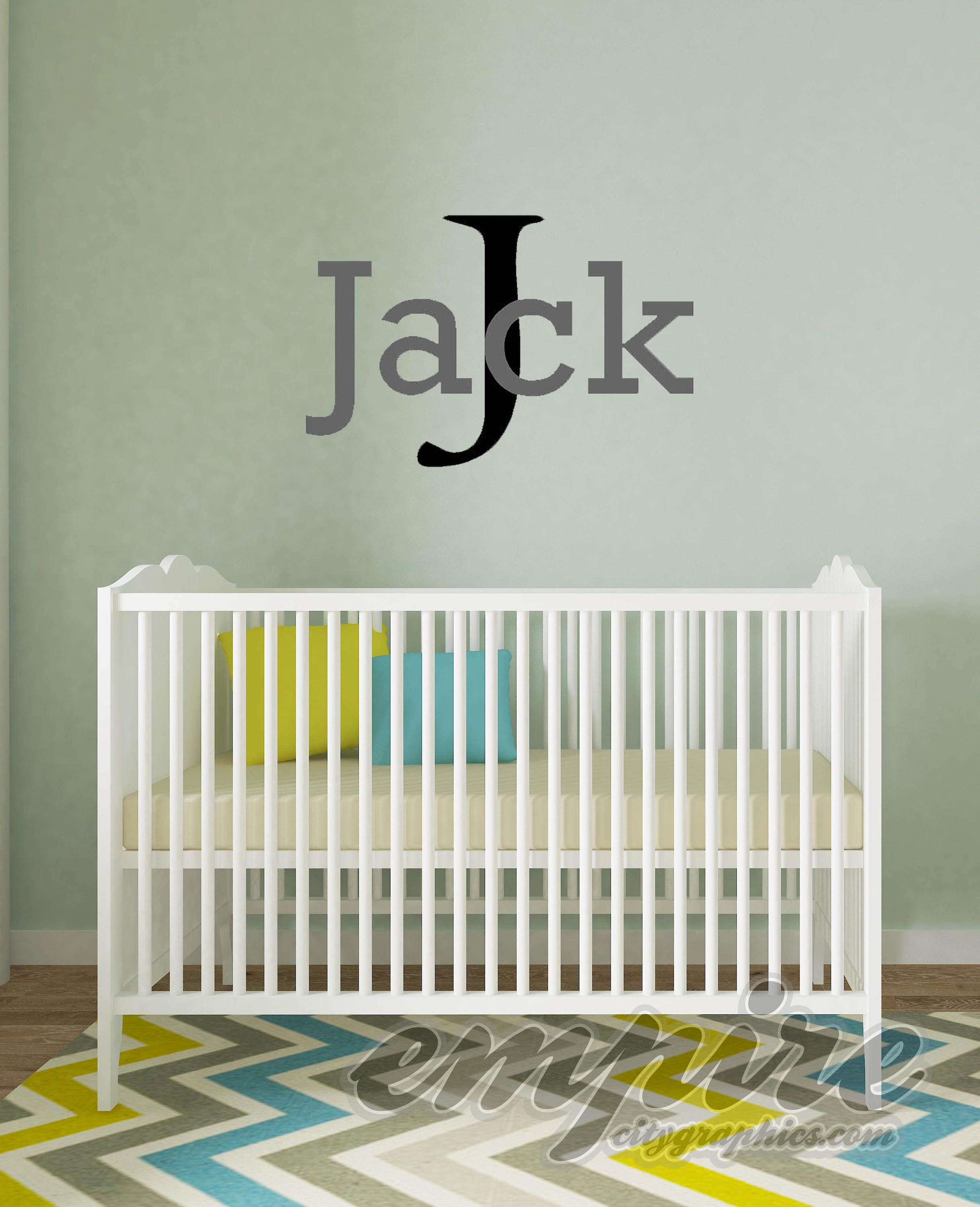 Monogram wall decals 3895 boys name wall decal boys monogram decals boys decor boys custom name amipublicfo Choice Image