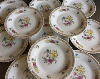 Liling Salad Plates Yung Shen Fine China Vintage Set 11 - #T0511