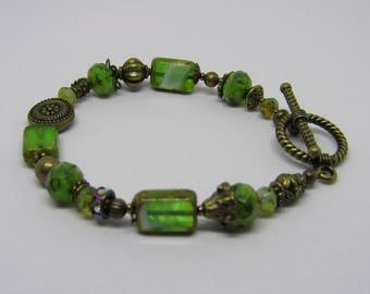 Green as Grass Czech Bracelet