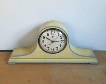 General Electric Telechron Mantle Clock // Antique Vintage Home Wooden Timepiece
