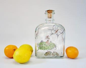 Vintage Decanter Bottle ABSINTHE DECANTER Lars Bo Holmegaard HC Andersen Tommelise Denmark