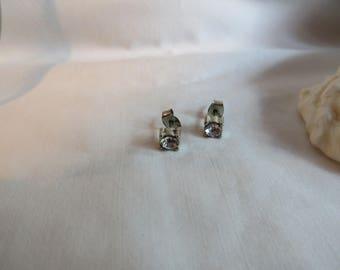 Cubic Zirconia Post Earrings, Earrings, Silver, Post, Cubic Zirconia
