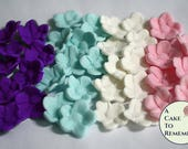 20 Extra flowers for the unicorn cake kit. Small fondant flowers for the unicorn cake topper.
