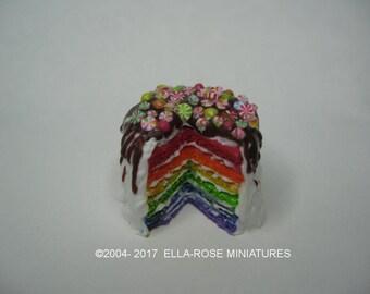 Rainbow Cake 12th scale miniature