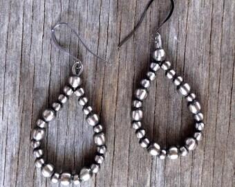 Navajo Pearl Earrings ~ Style 119
