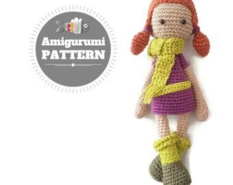 CROCHET PATTERN: Lisa Amigurumi Doll Pattern, crochet pattern,  art doll crochet ebook,Instant Digital Dowload, crochet pdf diy