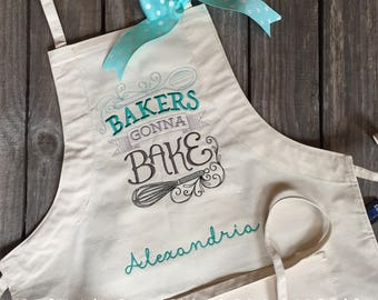Bakers Gonna Bake Apron Personalized with Name or Initials