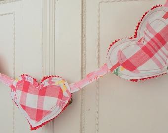 Heart Garland, Valentines Decor
