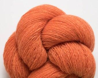 Daylily Orange Recycled Cashmere Lace Weight Yarn, CSH00276