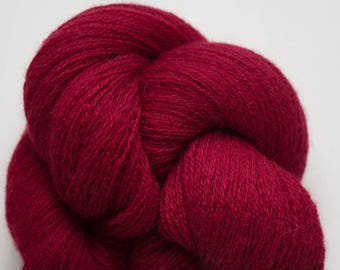 Cranberry Cashmere Recycled Lace Weight Yarn, CSH00315