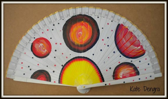 Planet Design Spanish Hand Fan Limited Edition