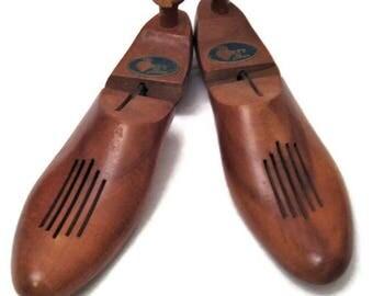 60s Shoe Trees, Wood Shoe Tree, Size 8M Shoe Tree, 1960s Shoe Stretcher, The Harrt Shoe
