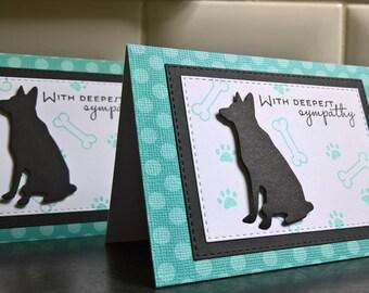 Dog Sympathy Card, Pet Sympathy Card, Dog Loss Card, Dog Condolence Card, German Shepherd, Pet Sympathy Card