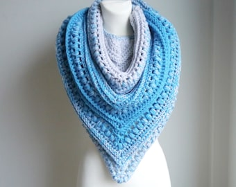 Crochet Shawl / Crochet Shawl Wrap / Christmas Gift / Crochet Scarf / Oversize scarf / Wrap / Knitted Scarf / Chunky Scarf / gift for her