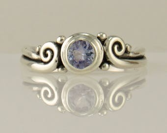 R1134- Sterling Silver Sapphire Ring- One of a Kind