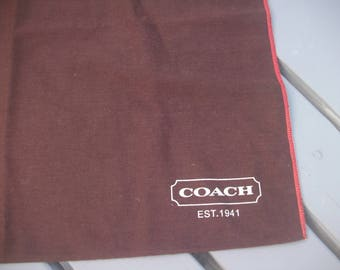 Large COACH Dust Cover