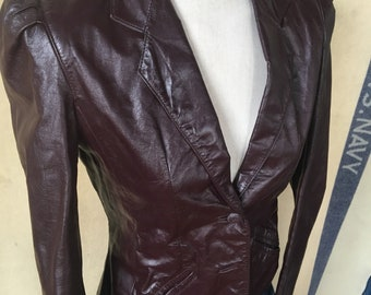 Vintage Split End leather jacket 1980's 7/8