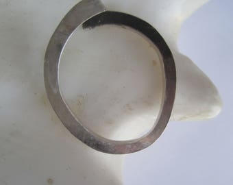 Sterling Silver Ring ./. Shiny Silver Matted Oxidation ./. Strict Design ./. Contemporary Ring ./. Bague Contemporain ./. Made in Sweden