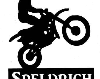 Personalized, Biker,Braaap,Rider,Metal Art,Freestyle Motocross,Dirt Bike,Gift,FMX,Racing,NEW