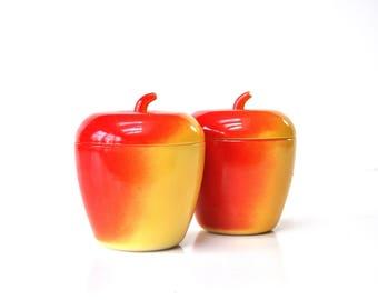 Mid-Century Ceramic Apple Jelly Jar