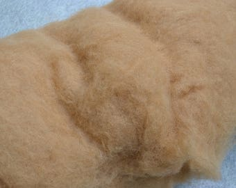 Bergschaf wool uk, caramel, needle felting, carded bergschaf wool for felting