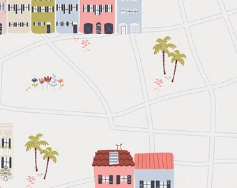 Fabric by the Yard- Charleston-- The Row-- by Amy Sinibaldi for Art Gallery Fabrics