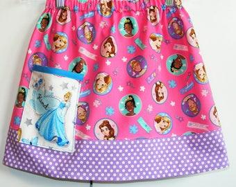 Disney Princess skirt with Cinderella pocket   (2T, 3T, 4T, 5T, 6, 7, 8, 10)