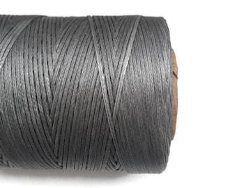 Grey Polyester Thread, Grey Waxed Cord, Macrame Cord, Waxed Polyester Thread, Grey Waxed Polyester Cord  (1mm) 10m -11yards S 40 219