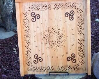 Wood burned Rune Board