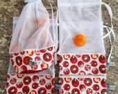 Sacs à fruits écologique lavable / Ensemble de 4 / Zero déchet / Épicerie / Ecological and washable fruits 4 bags kit/ Grocery / Zero waste