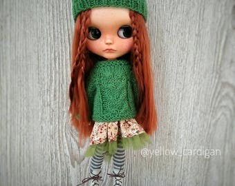 Custom Blythe DOLL OOAK Red hair and freckled