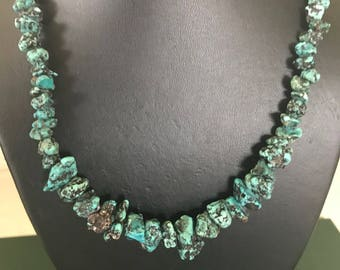 Native American Turquoise Nugget and Shell Heishi Necklace