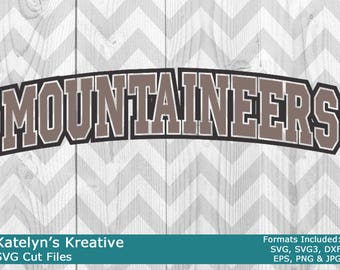 Mountaineers Arched SVG Files