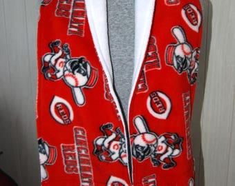 MLB Fleece scarves, Cincinnati Reds and Boston Red Socks
