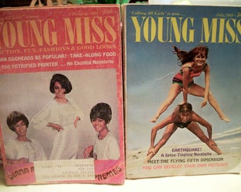 Calling All Girls, Jan. Feb. 1964,  Young Miss Feb. July 1969  Vintage teen magazines