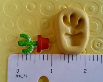 CACTUS mold flexible silicone mold for polymer clay charms jewelry fondant cake oreo pops  western cowboy party theme tribal pendant