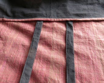 Hand Woven Cotton Sarong Skirt in Pastel Pink