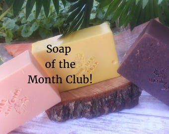 soap of the month club, health and beauty, bath and body, glycerin soap, artisan soap, soap, 3 months