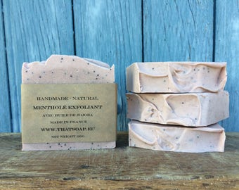 Peppermint soap scrub, Handmade Soap, natural Soap, Vegan Soap, That Soap, Rose clay soap, Homemade Soap