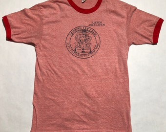Vintage Queens College Alumni Association Ringer T-Shirt
